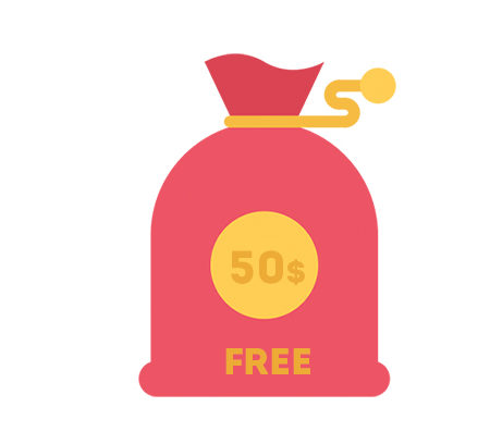 Register and Get 50$ for FREE!