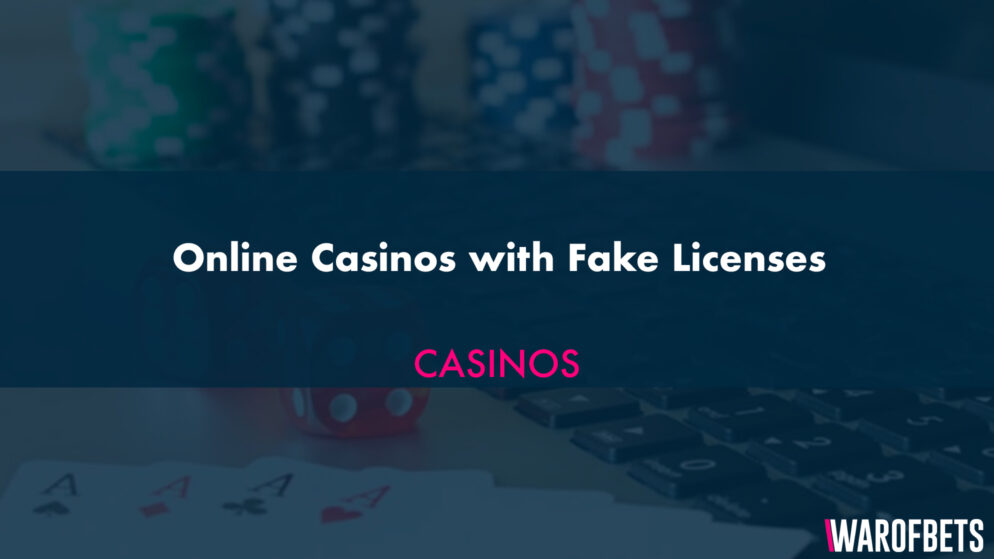 Online Casinos with Fake Licenses